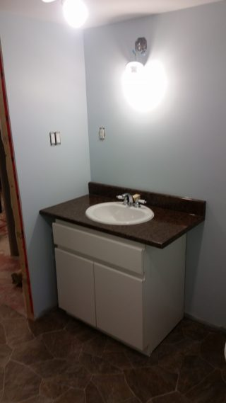 bathroom renovation with sink install